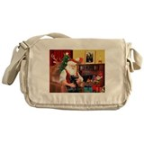 Santa's Flat Coat R Messenger Bag