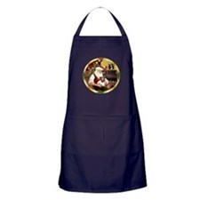 Santa's Fox Terrier Puppy Apron (dark)