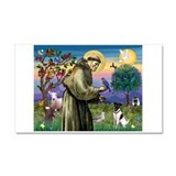 St. Francis and Smooth Fox Terrier Car Magnet 20 x