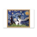 Starry Night Fox Terrier (#1) Car Magnet 20 x 12