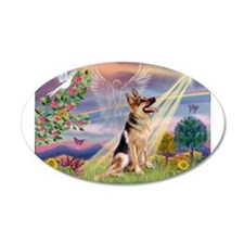 Cloud Angel & G-Shepherd #1 22x14 Oval Wall Pe