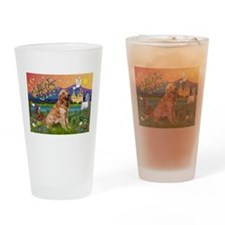 Fantasy Land Golden Drinking Glass