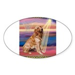 Blessed Golden Sticker (Oval 10 pk)