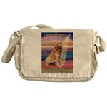 Blessed Golden Messenger Bag