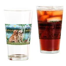 Birches / Golden Drinking Glass