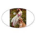 Windflowers & Golden Sticker (Oval)