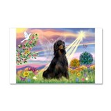 Cloud Angel & Gordon Setter Car Magnet 20 x 12