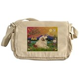 Great Pyrenees in Fantasy Land Messenger Bag