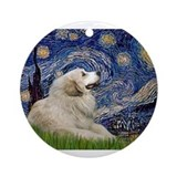 Great dane starry night Round Ornaments