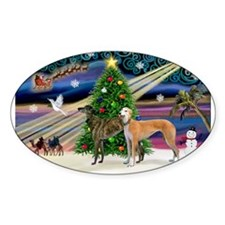 XmasMagic/2Greyhounds Decal