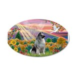 Autumn Angel/Keeshond 38.5 x 24.5 Oval Wall Peel