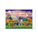 Autumn Angel/Keeshond Car Magnet 20 x 12