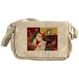 Santa's Kuvasz Messenger Bag
