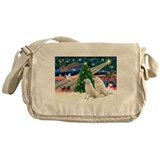 Xmas Magic &amp; Kuvasz Messenger Bag