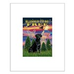 Blessed/Free-Black Lab Small Poster