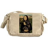 Mona's Black Lab Messenger Bag
