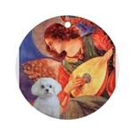 Mandolin Angel / Maltese Ornament (Round)