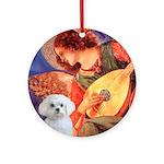 Mandolin Angel / Maltese Ornament (Round)