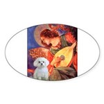 Mandolin Angel / Maltese Sticker (Oval 10 pk)