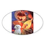 Mandolin Angel / Maltese Sticker (Oval 10 pk)