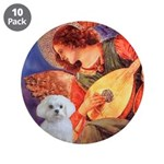 "Mandolin Angel / Maltese 3.5"" Button (10 pack"