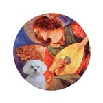 "Mandolin Angel / Maltese 3.5"" Button"