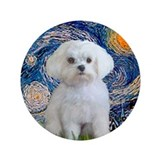 "Starry / Maltese 3.5"" Button"