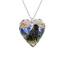 Newfie in Mt. Country Necklace