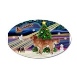 XmasMagic/Nova Scotia dog 38.5 x 24.5 Oval Wall Pe