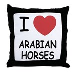 I heart arabian horses Throw Pillow