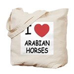 I heart arabian horses Tote Bag