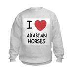 I heart arabian horses Kids Sweatshirt