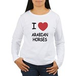 I heart arabian horses Women's Long Sleeve T-Shirt