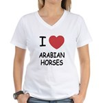 I heart arabian horses Women's V-Neck T-Shirt