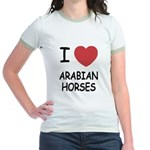 I heart arabian horses Jr. Ringer T-Shirt