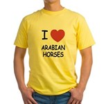 I heart arabian horses Yellow T-Shirt