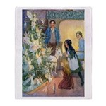 Christmas Tree Fairies Throw Blanket