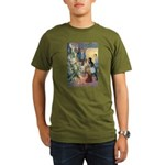 Christmas Tree Fairies Organic Men's T-Shirt (dark