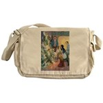 Christmas Tree Fairies Messenger Bag