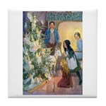 Christmas Tree Fairies Tile Coaster