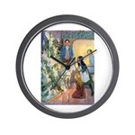 Christmas Tree Fairies Wall Clock