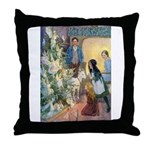 Christmas Tree Fairies Throw Pillow