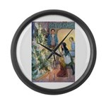 Christmas Tree Fairies Large Wall Clock
