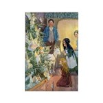 Christmas Tree Fairies Rectangle Magnet