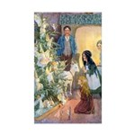 Christmas Tree Fairies Sticker (Rectangle 10 pk)