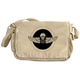 Skull and Wings Messenger Bag
