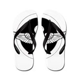 Skull and Wings Flip Flops