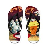 Mice & Cheese Cigar Label Flip Flops