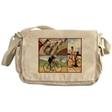 Vintage Cycling Cyclists Messenger Bag