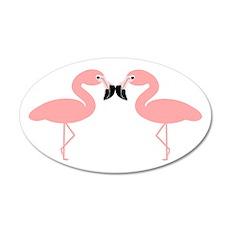 Flamingos 22x14 Oval Wall Peel